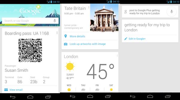 Google Now, Yeni Özellikleri İle Karşınızda