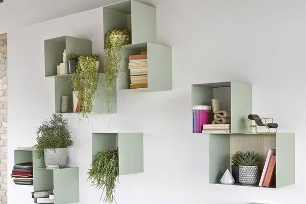 dekoratif duvar rafları