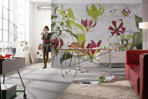 desenli duvar kağıt
